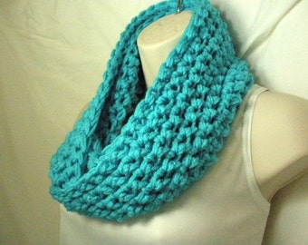 Turquoise Cowl Infinity Circle Scarf Neckwarmer