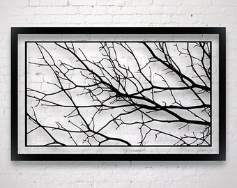 Large Tree Branch Decor- Modern Wall Art- Luxury Wall Art- Entryway Wall Art- Master Bedroom Wall Decor- Monochrome Art- Original Paper Cut