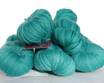 Green/turquoise organic Merino - 100g