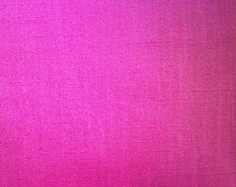 Linen Look Fabric in Pink, 60 inches, 1 Yard Cut, Polyester & Rayon, No Iron Sewing for Dresses, Skirts, Jackets, Easy Care