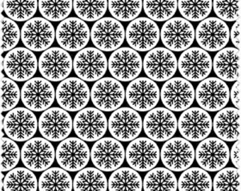 Snowflake Fabric, White with Black Snowflakes, Christmas Fabric, Winter Material-Quilting, Clothing, Crafts - Cotton Yardage, By The Yard