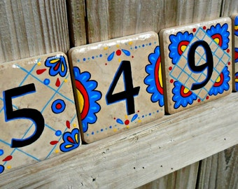 House Address Numbers MEXICO in primary colors