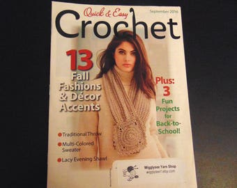 Quick & Easy Magazine 2016  Crochet patterns -  Summer 2016 vol 34 issue 3