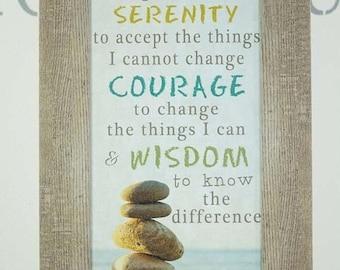 Sale Serenity Prayer God Grant Me The Serenity Courage Wisdom Inspirational Rocks Ocean Lake Beach Decor Art Picture