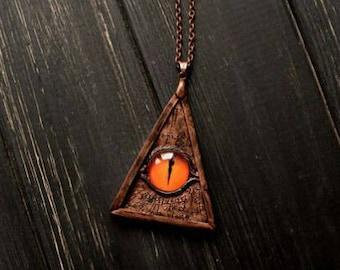 Eye sauron pendant Fantasy eye Legend necklace Fantasy necklace Eye sauron jewelry Eye sauron necklace silmarillion lord of the rings