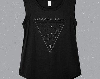 Virgoan Soul | Virgo  Sleeveless Shirt, astrology shirt, constellation shirt, Zodiac shirt, Zodiac top