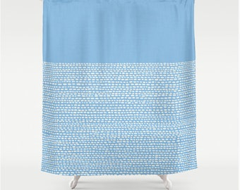 Minimalist Shower Curtain In Placid Blue, Pantone Color Of 2014, Modern  Bathroom Decor,