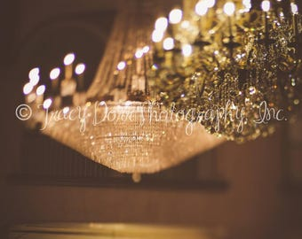 INSTANT DOWNLOAD - set of 2 artistic chandelier photographs - high resolution - glamour wall art