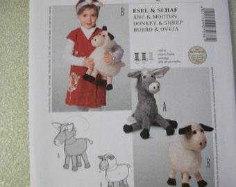 burda 7038 Stuffed Donkey & Sheep