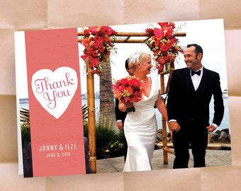 Wedding Thank You Notes -- Wedding Invitations - Bride and Groom - 100  Custom Folding Cards with Envelopes