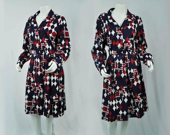 Vintage Shirt Waist Dress | 1960's Stephen O'Grady Dress