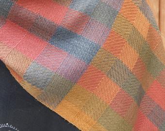 Autumn Blocks 100% Silk Wide Scarf