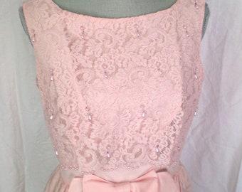 PRETTY LADY... VINTAGE Blush Pink Dress WIth Jacket  1960s