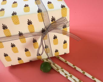 Pineapple Wrapping Paper,Birthday Gift Wrap,Fruit wrapping Sheets,Holiday Gift Wrap