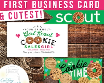 Girl scout cookie business cards cutest cards ever diy girl scout cookie business cards customized for you i customize you print colourmoves Image collections
