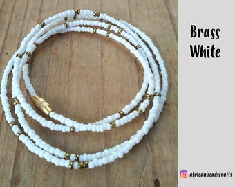 NEW!! White Brass - Waist Beads - Belly Chain - Belly Beads - African Waist Beads - African jewelry