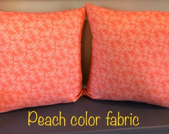 Fall Decor Leaves Pillow  Cover; Free Shipping