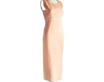Dress, Pink, Size 6, bohemian, boho,  maxi pink dresses, loose dress, bohemian dresses, bohemian dress, mother of the groom dress