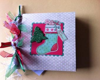 Christmas scrapbook album premade paper bag album holiday gift