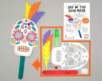 Make Your Own Day of the Dead Mask Kits - Perfect for Party Bags