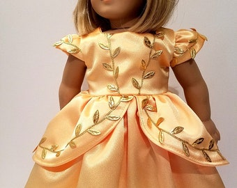 Princess Belle ball gown, 18 inch doll clothes, Disney Princedz Belle from Beauty and the Beast - FREE SHIPPING