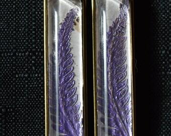 Purple Fern Frond Necklace