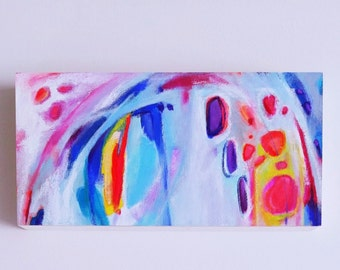 Small Abstract Painting, Small Blue Art, Blue Abstract Painting, Abstract Acrylic Painting, Abstract Artwork