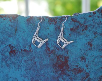 Halter Horse Earrings Sterling Silver,Equestrian Jewelry,Horse Halter Jewelry
