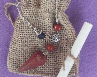 Red Jasper Pendulum