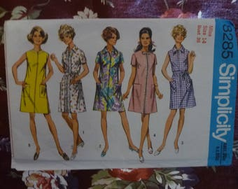 Vintage 1970's SIMPLICITY Womens Sewing Pattern - Pattern #8285 - Free Postage Australia Wide
