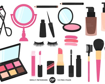 50% OFF SALE! Makeup Clip Art, Beauty Clipart, Girly Clip Art - Commercial Use, Instant Download