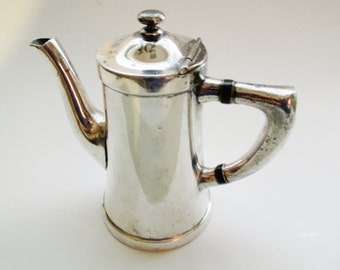 Benedict Indestructo Vintage Hotel Silver Teapot, Silver Plate Syrup Pitcher