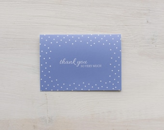 Thank You Card Set | Blue Polka Dot - Set of 8