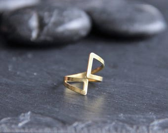 Support ring hollowed cross sections approximately 16mm adjustable raw brass