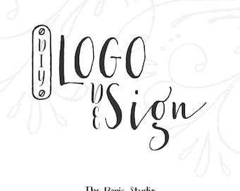 Machine à coudre Vintage Logo Pay As You Go site couturière personnalisé Logo Design Logo Blog Logo Logo d'entreprise marque mode Boutique Logo