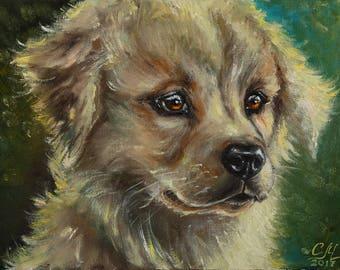 Wall art print Animal print Giclee print canvas art Animal Dog portrait painting canvas print Pet portrait Pet print Pet gift Dog lover gift