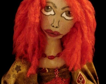 Art Doll-Red Headed Girl (Made by Request)