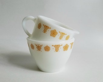 Vintage Butterfly Gold Pyrex/Corning Sugar and Creamer Set