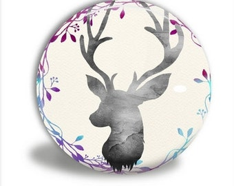 Pocket Mirror - Deer Head Mirror, Watercolor Deer