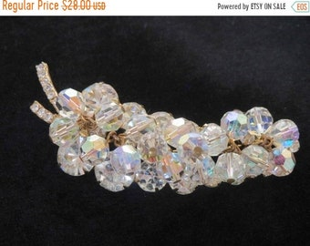 Memorial Week Sale DELIZZA & ELSTER Juliana Verified Crystal Chaton and Bead Brooch