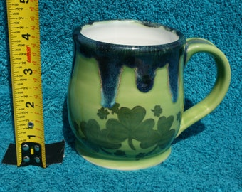 Irish Shamrocks - Make Your Own Luck 14oz. Mug