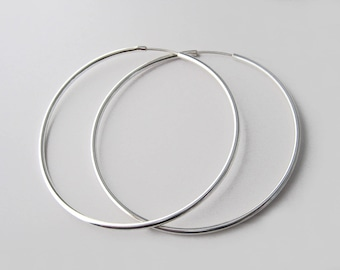 Large hoop earrings Silver 925/1000 rings