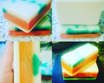 Pure Fruit Elderberry , Cantaloupe raw Honeybutter beautiful organic handmade soaps 8.5 natural scented with gifts from mother earth  SOAP
