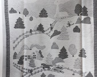 COUNTRY CHRISTMAS Quilted Appliqued Wallhanging Pattern McCall's Leaflet 357, 1980