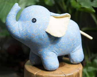 Stuffed Elephant - PDF sewing pattern & tutorial | stuffed animal | soft toy | softie