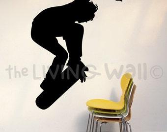 Skateboard Decals, Skateboarding Vinyl Wall Sticker, Skate Decor, Skateboar Stickers, Skate Silhouette, Skateboard Decor, Skate Wall Art
