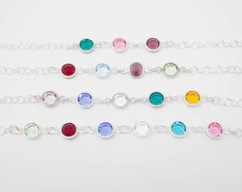 Mother's Bracelet, Mother's Birthstone Bracelet, Choose your Birthstone Crystals