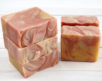 Citrus and Cedarwood Soap - Handmade All Natural Cold Process Soap with Cocoa Butter