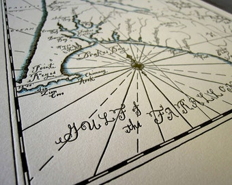 Point Reyes, Letterpress printed map (chocolate)