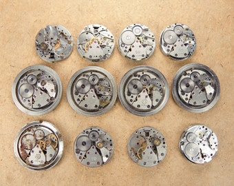 Small watch movements Watch parts - set of 12 - c112